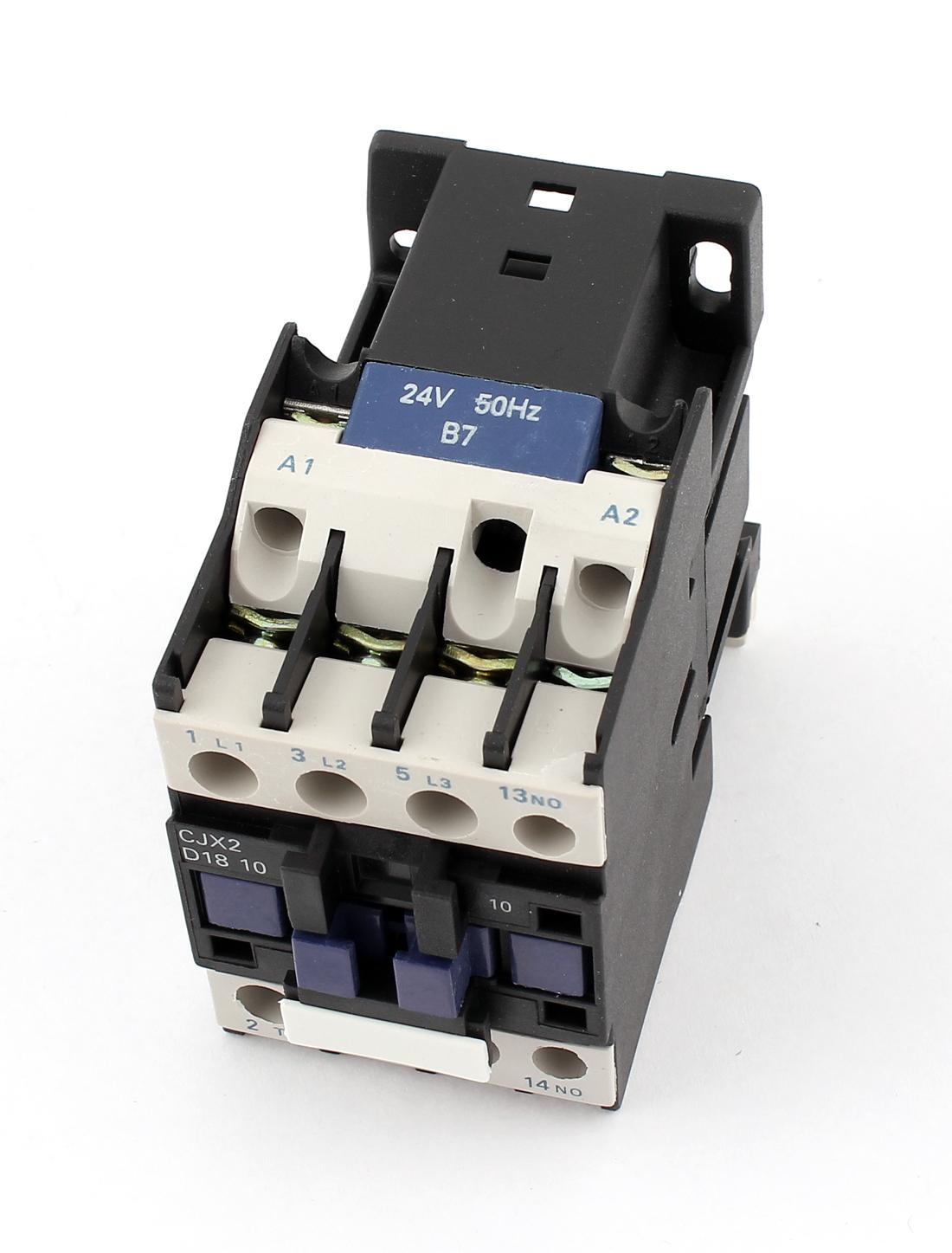 Cjx2 18 Ac24v Coil Motor Starter Relay 3 Phase Pole Ui