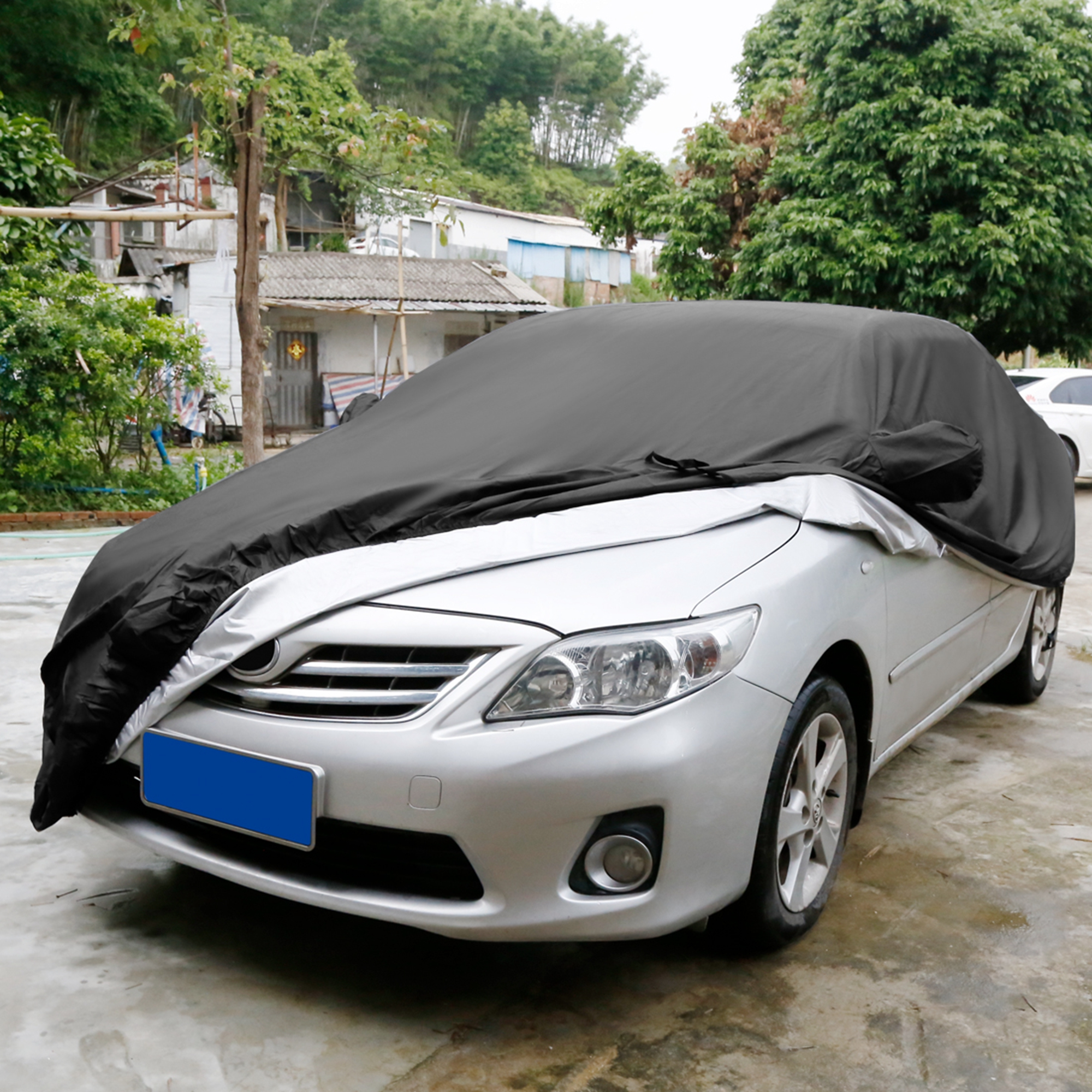 stormproof waterproof breathable luxurious black car cover. Black Bedroom Furniture Sets. Home Design Ideas