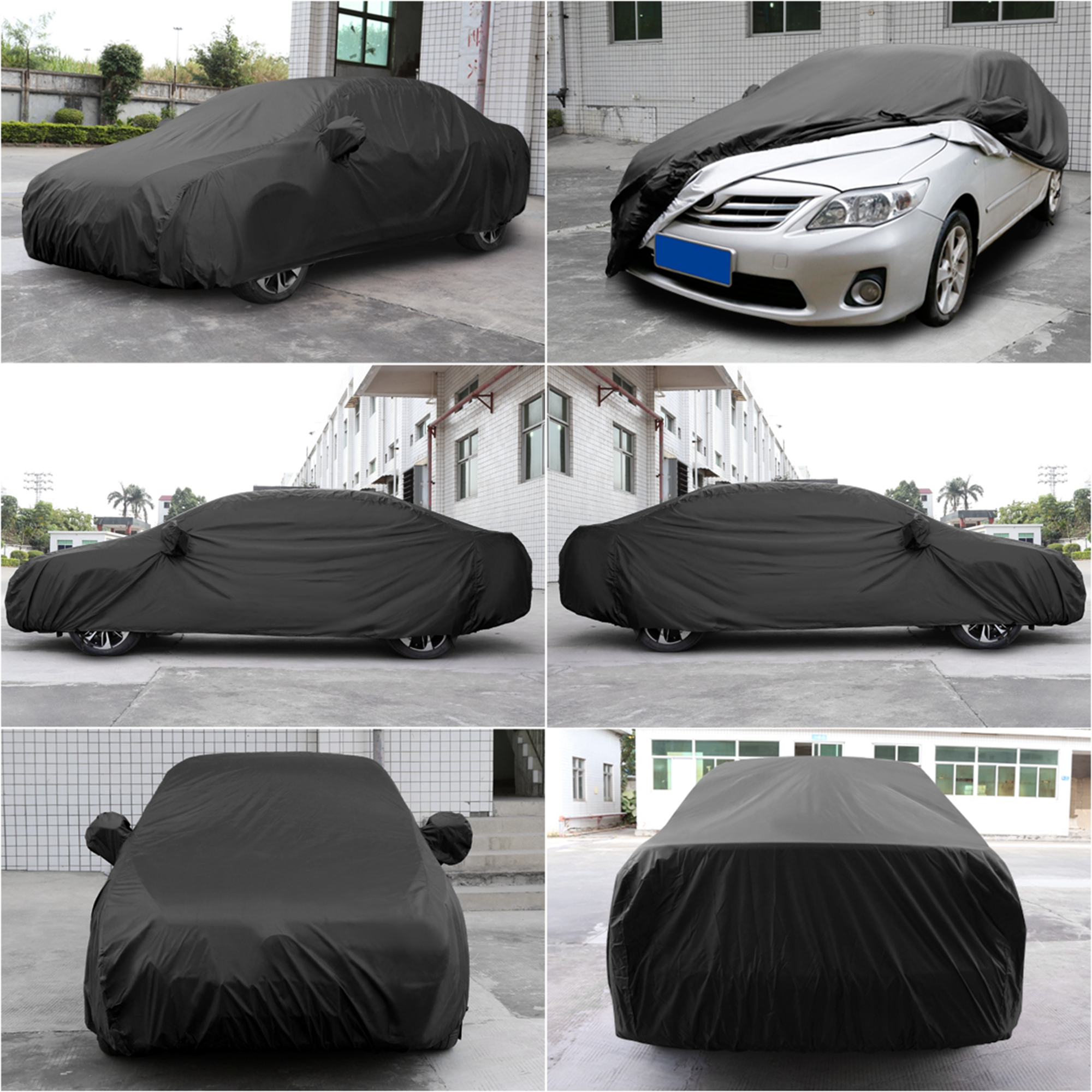 stormproof breathable black car cover durable waterproof. Black Bedroom Furniture Sets. Home Design Ideas