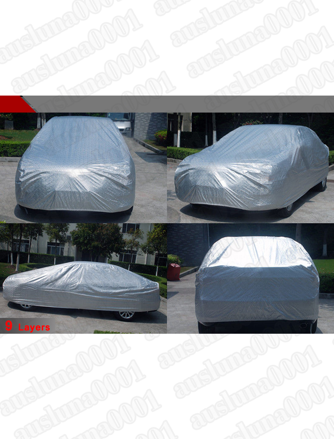 9layers car cover aluminum outdoor seamless waterproof for Mercedes benz car covers