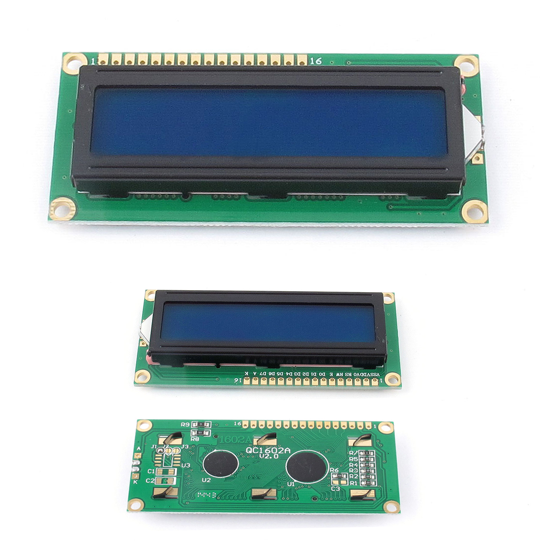 Lcd character display module lcm blue backlight