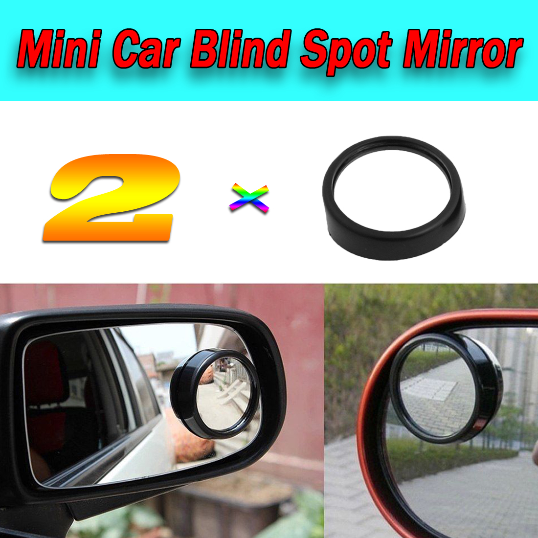 New Universal Adjustable Wide Angle Convex Car Blind Spot