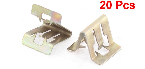 20x bronze tone auto car dash dashboard trim metal fastener retainer ebay. Black Bedroom Furniture Sets. Home Design Ideas