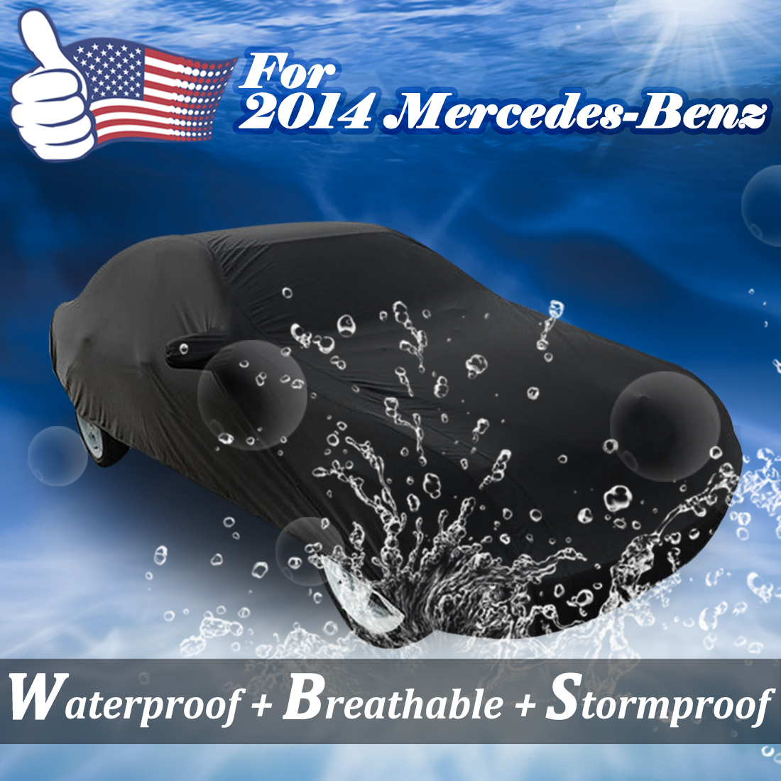 Car cover for 2014 mercedes benz stormproof waterproof for Mercedes benz car covers