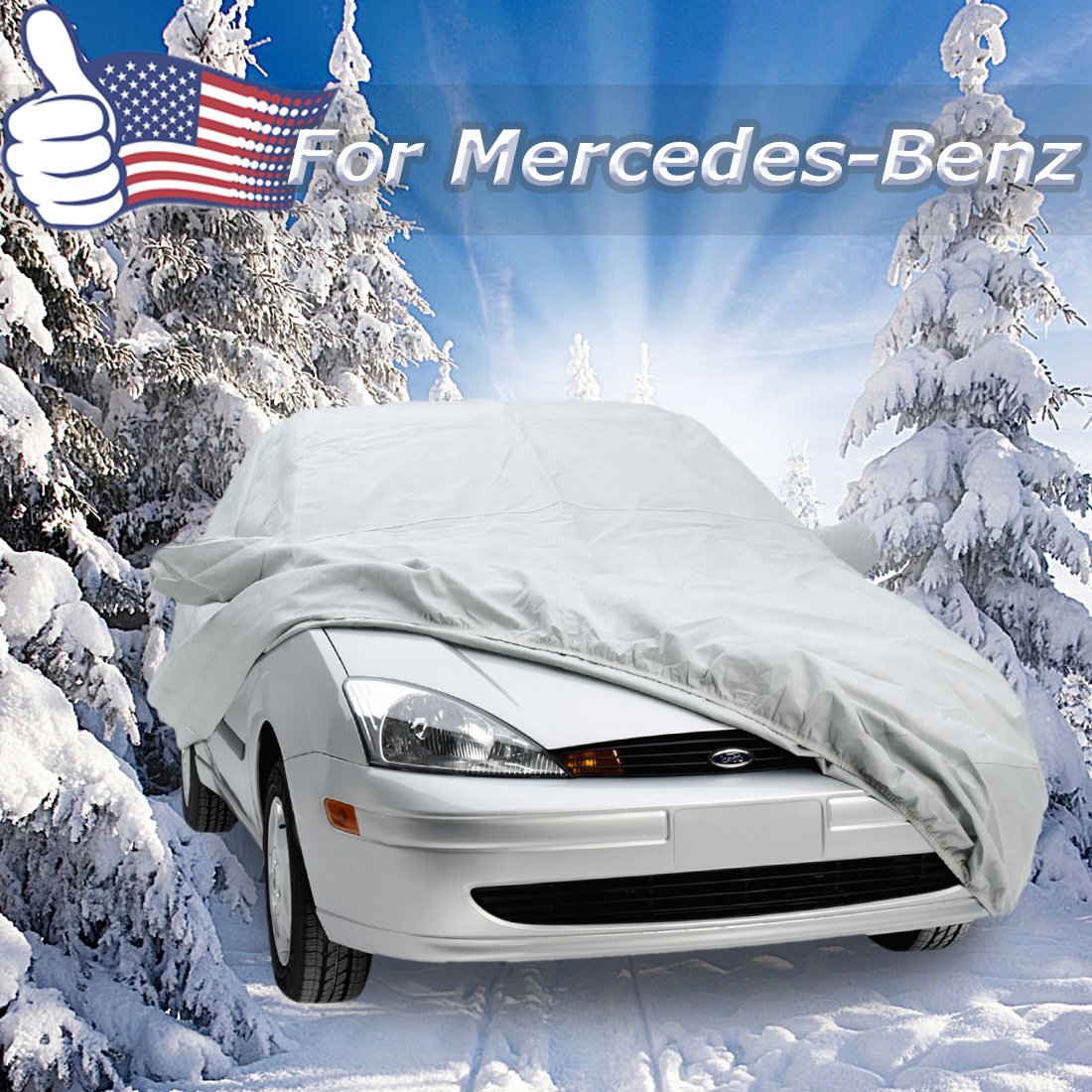 Car cover durable for mercedes benz dustproof waterproof for Mercedes benz car covers