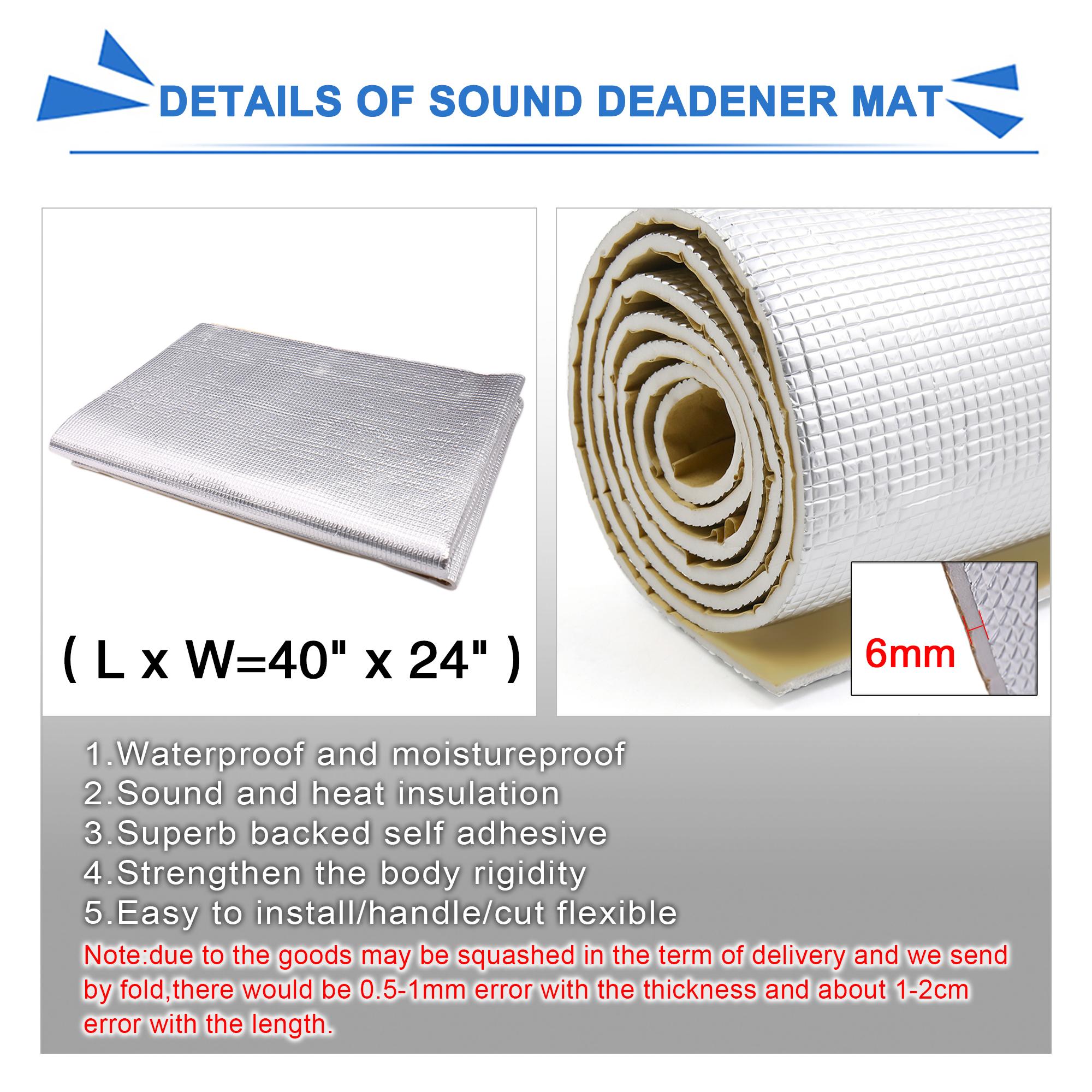 394mil car hood floor doors heat sound deadener insulation mat 60 x40. Black Bedroom Furniture Sets. Home Design Ideas