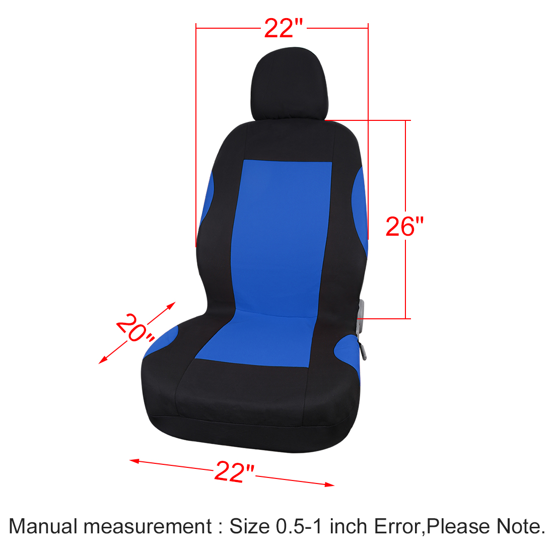 Unique Seat Cover Headrests Full Set For Car Truck Blue