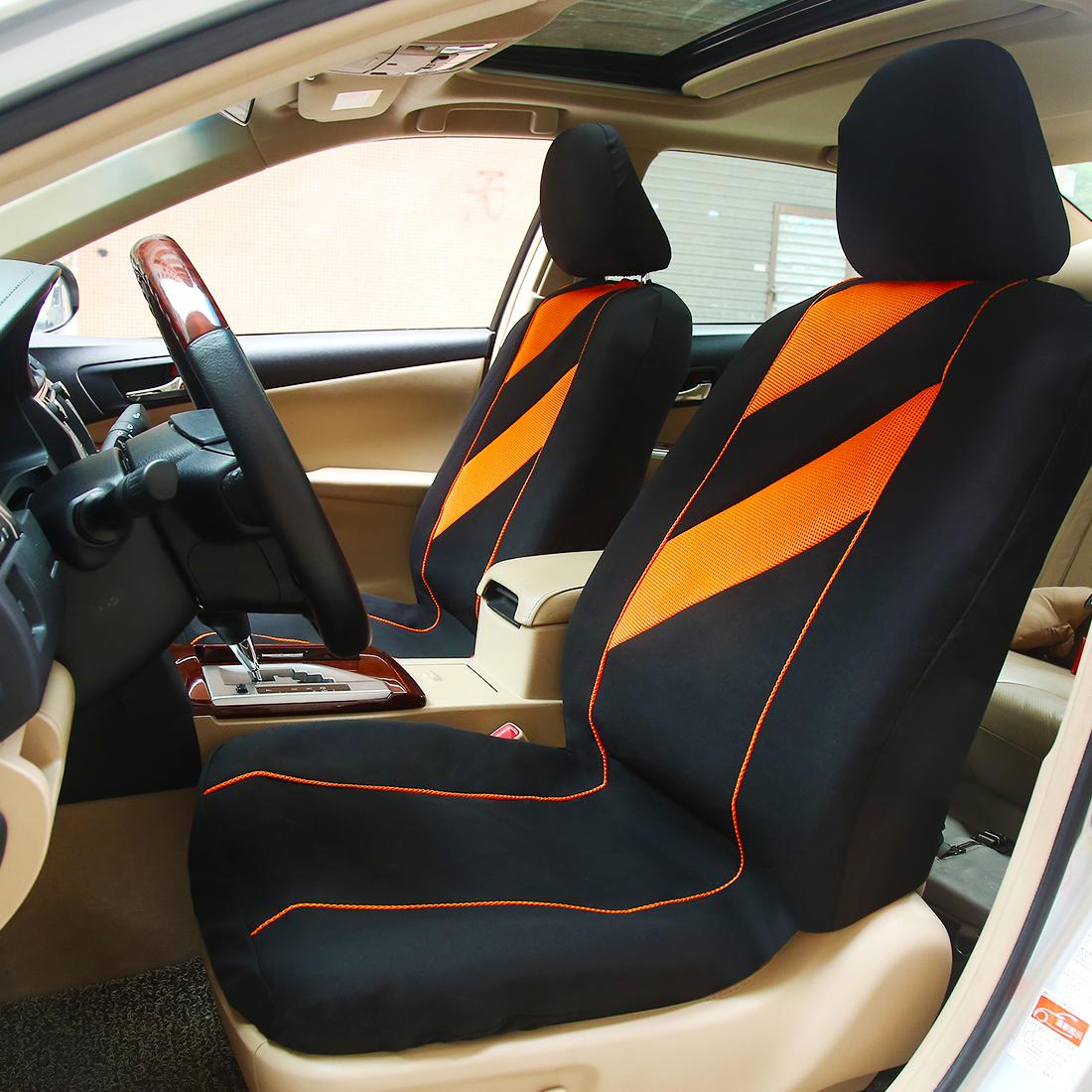 8pcs auto interior accessories car seat cover full set beige ebay. Black Bedroom Furniture Sets. Home Design Ideas