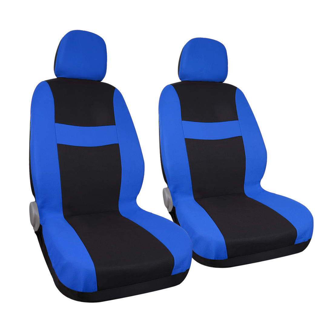 blue black car seat covers with headrest fit for auto truck ebay. Black Bedroom Furniture Sets. Home Design Ideas